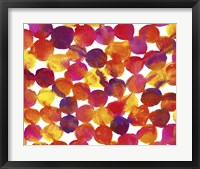 Framed Warm Colors Abstract Flowing Paint Pattern 1