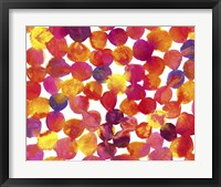 Framed Warm Colors Abstract Flowing Paint Pattern 2