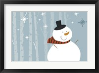 Framed Happy Snowman