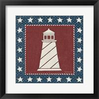 Framed Coastal Americana II