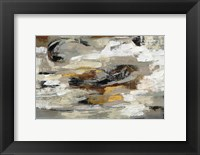 Framed Neutral Abstract Gray