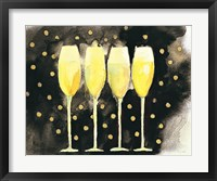 Framed Bubbly Fun Black and Gold
