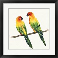 Framed Tropical Fun Bird III