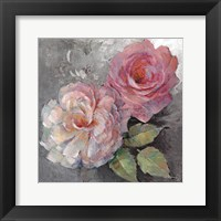 Framed Roses on Gray I