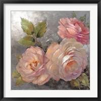 Framed Roses on Gray II