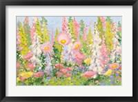 Framed Garden Pastels I Blue Sky
