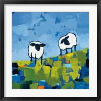 Framed Two Sheep