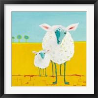Framed Mama and Baby Sheep