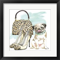Framed Glamour Pups IV