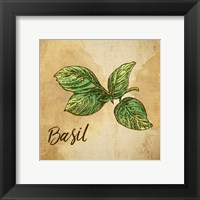 Framed Basil on Burlap