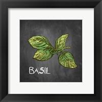 Framed Basil on Chalkboard