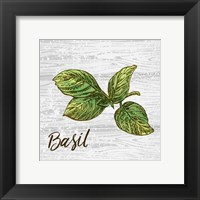 Framed Basil on Wood