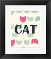 Framed Cat Heads