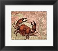Framed Maryland's Jumbo Crabs