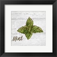 Framed Mint on Wood