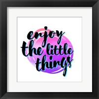 Framed Enjoy the Little Things 3