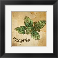 Framed Oregano on Burlap
