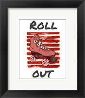 Framed Roller Derby Roll Out