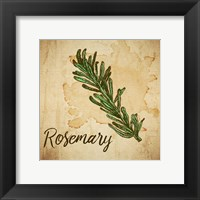 Framed Rosemary on Burlap