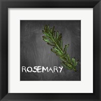 Framed Rosemary on Chalkboard