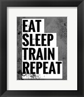 Framed Eat Sleep Train Repeat
