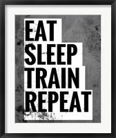 Framed Eat Sleep Train Repeat