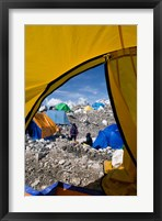 Framed Tents of Mountaineers , Mt Everest, Nepal
