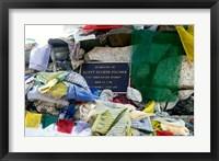 Framed Chorten with in prayer flags, Mt Everest, Nepal