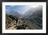 Framed trekker on the Everest Base Camp Trail, Nepal
