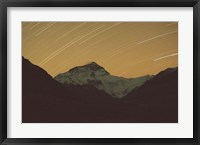 Framed Mt Everest with Stars, Tibet