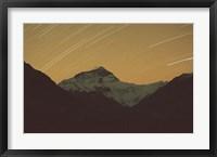 Framed Mt Everest with Stars, Tibet