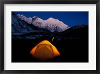 Framed First Light on Mt Everest From the Kangshung, Tibet