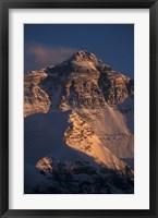 Framed Mt Everest at Sunset From Rongbuk, Tibet