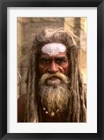 Framed Close-up of Religious Man in Kathmandu, Nepal