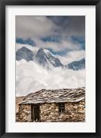 Framed Stone hut, Khumbu Valley, Nepal