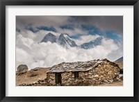 Framed Khumbu Valley, Nepal
