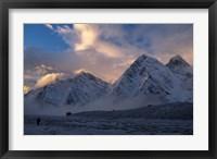 Framed Kangshung Glacier, Tibet