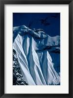 Framed Close-up of Glacier at Chomolonzo, Tibet