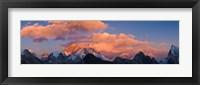 Framed Snowcapped Mountain Peaks, Mt Everest