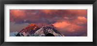 Framed Snowcapped Mountain Peaks, Mt Everest, Himalayas
