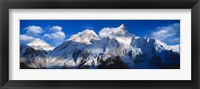 Framed Everest & Nuptse Sagamartha National Park Nepal