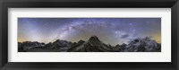 Framed Panoramic view of Mt Everest