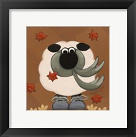 Framed Sheep in Fall Clothing