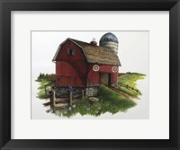 Framed Red Barn