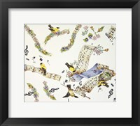 Framed Musical Birds