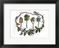 Framed Bird Houses