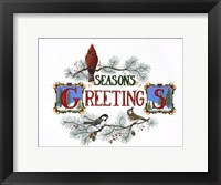 Framed Season's Greetings