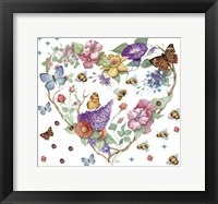 Framed Butterfly Heart