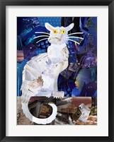 Framed Le Chat Blanc