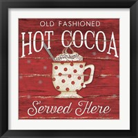Framed Hot Cocoa Served Here